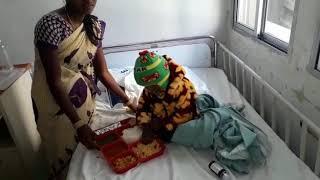Little Joel healing after surgery