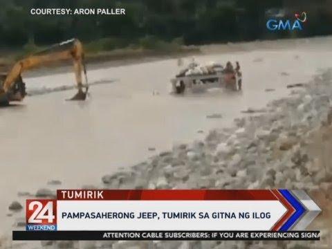 [GMA]  24 Oras: Pampasaherong jeep, tumirik sa gitna ng ilog