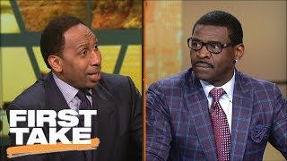 Stephen A. Smith Clashes With Michael Irvin Over Tony Romo   First Take   March 24, 2017