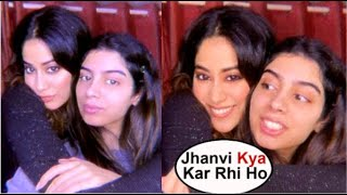 Jhanvi Kapoor Irritating Sister Khushi Kapoor While Doing Masti Taking Photos At Home