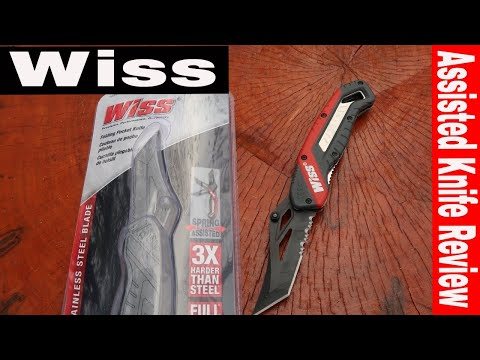 $18 WISS FOLDING KNIFE REVIEW WKFP1- TOOL REVIEW TUESDAY!!