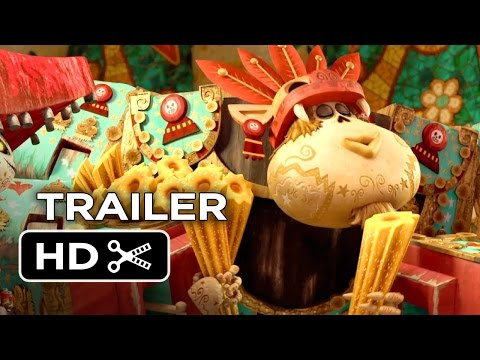 The Book of Life Official Trailer #2 (2014) - Zoe Saldana Animated Movie HD