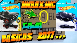 "UNBOXING ""CAJA/CASE A"" HOT WHEELS BASICOS 2017"