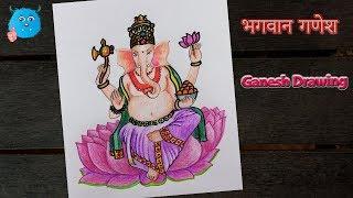 Easy Drawing Of Ganesh Ji With Colour 免费在线视频最佳电影电视节目