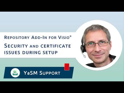 Repository add-in for Visio: Security and certificate issues during ...