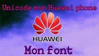 Huawei Fonts Unicode