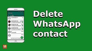 How to delete WhatsApp contact | Remove WhatsApp contact (2020) [Android]