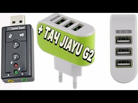 Зарядка на три порта 3.1A / Звуковая карта 7.1 USB 2.0 / Тачскрин Для JIAYU G2 с Алиэкспресс