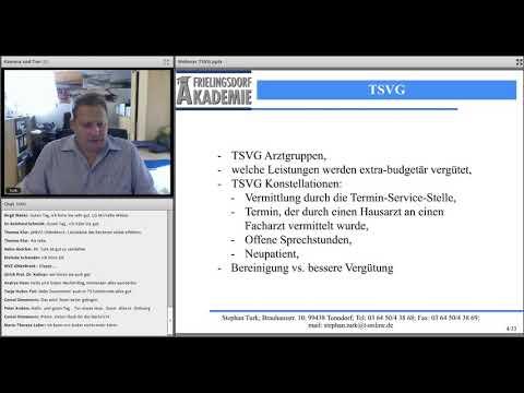 TSVG Umsetzung in der Praxis vom 26.06.2019 mit Stephan Turk