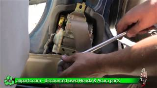 Replacing Front Seat Belt