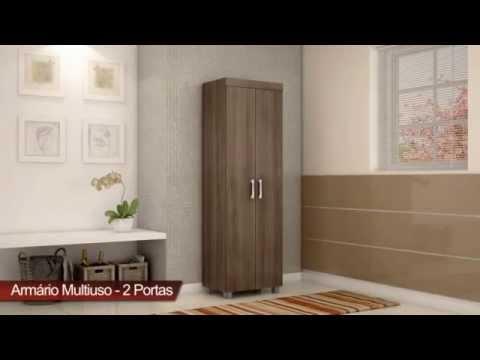 Armário Multiuso Organizador Sapateira 2 Portas - Só Eletro Móveis