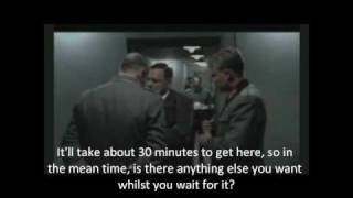 Fegelein runs over Hitler's pizza delivery