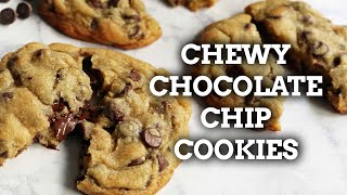 The BEST CHEWY Chocolate Chip Cookies Recipe