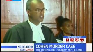 Sarah Wairimu bail hearing: Murgor wants Cohen's widow released on bail