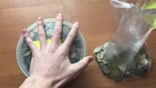 10 килограмм десятирублевых монет//Разбиваем копилку//Большая гиря