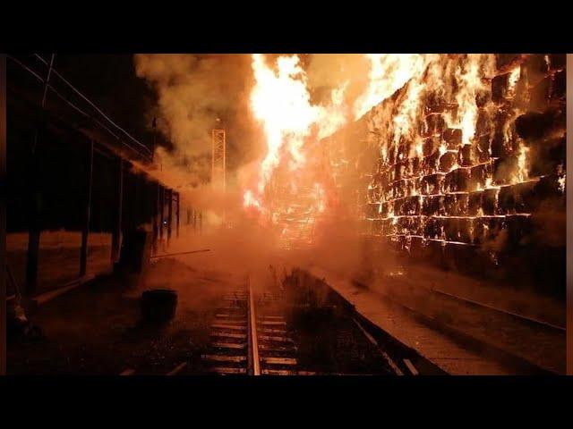 Пожар на деревообрабатывающем предприятии