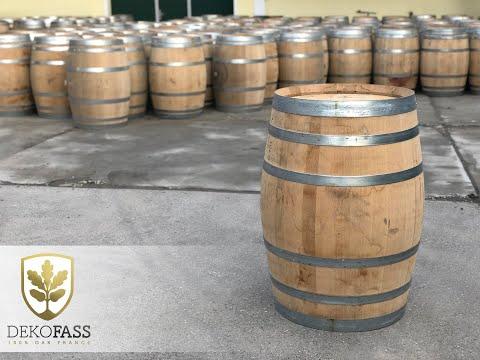 ✅ 225 L Barrique Weinfass Stehtisch Eichenfass Holzfass Eiche Liter Holz Wein Fass kaufen Regentonne