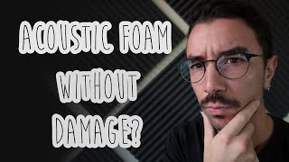 How to Hang an ACOUSTIC FOAM panel Without Damaging the Wall