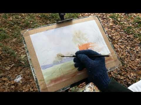 Thumbnail of How to paint an Autumn scene using watercolour #colinsteedart