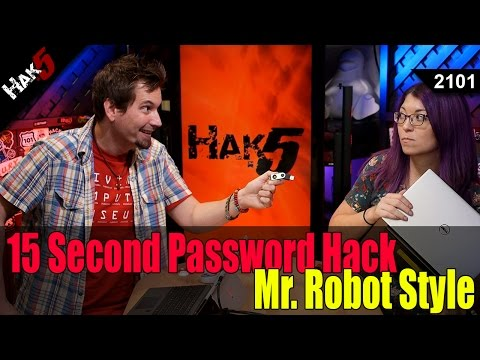 15 Second Password Hack, Mr. Robot Style