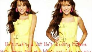 Santa Claus is coming to town(with lyrics)-Miley Cyrus