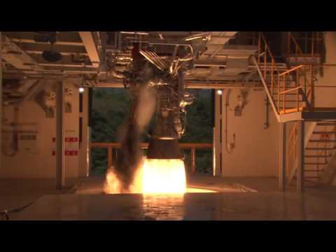 한국형발사체 75톤급 액체엔진 시험모델 1호기 연소시험(145초) 수행 근접영상