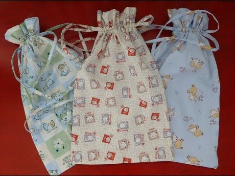 DIY cucito creativo! Tutorial Sacchetti per neonato, asilo, portatutto