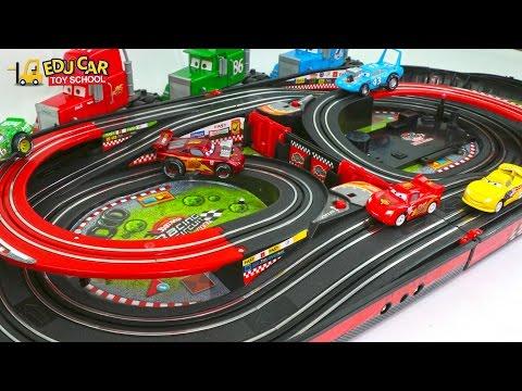 Learning Color Special Disney Pixar Cars Lightning McQueen Mack Truck Race Track for kids car toys