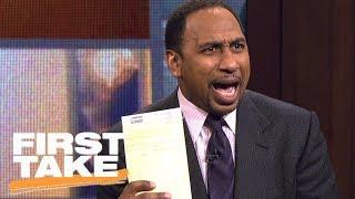 Stephen A. Smith responds to J.R. Smith's clap-back | First Take | ESPN