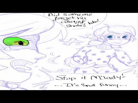 "Miraculous Ladybug Comics Chat Noir ""Allergies Suck"""