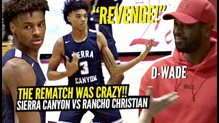 Celebrities Lined Up To Watch BRONNY James & Sierra Canyon REMATCH vs Rancho Christian! BJ Went OFF!