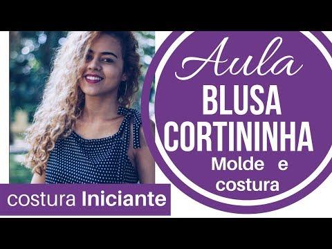 AULA Blusa cortininha iniciantes na costura Alana Santos Blogger