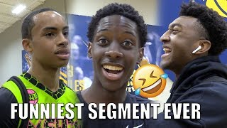 Mikey Williams, Kyree Walker, Terrance Clarke & Amari Bailey! 1 of the FUNNIEST Segments