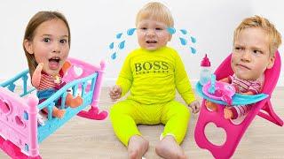 Amelia, Avelina and Akim learn how to babysit.