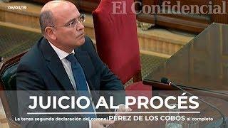 [JUICIO PROCÉS] La Tensa Segunda Declaración Del Coronel Pérez De Los Cobos Completa