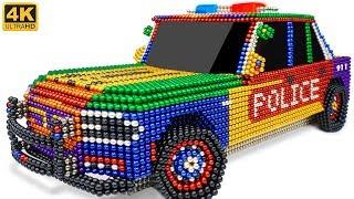 DIY - How To Make Amazing Police Car From Magnetic Balls (Satisfying)   Manget Satisfying