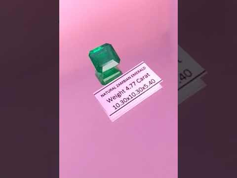 Natural Zambian Emerald 4.77 Carat