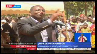 DP William Ruto tours Kakamega County and urges Kenyans to vote for Jubilee in 2017