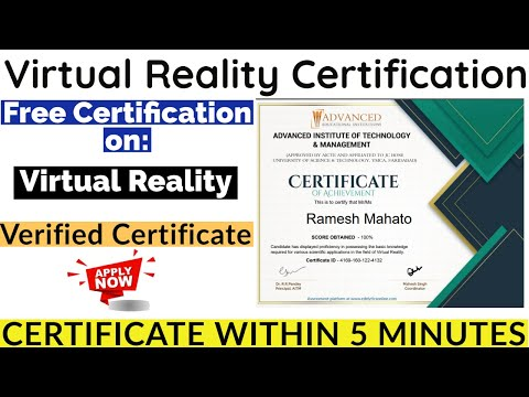Virtual Reality Free Certification | Free Certificate | Virtual Reality ...