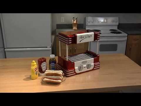 Nostalgia Electrics Maquina  Rodillo Para Hot Dogs Rhd800