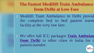 Now Book the Medilift Train Ambulance from Patna with Doctor