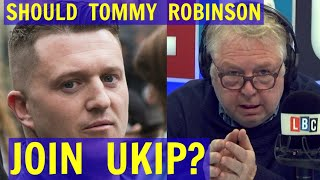 Henry Bolton AGAINST Tommy Robinson Joining UKIP - LBC