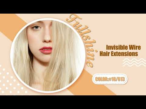 Full Shine 100% Human Hair Halo Extensions Blonde Highlighted (#16/22)