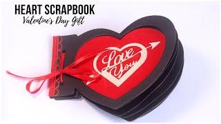 DIY Heart Scrapbook | Valentines Day Gifts for Boyfriend / Girlfriend | Handmade Love Cards