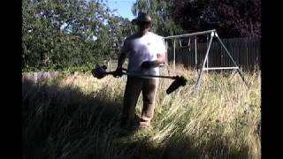 How to cut really tall grass