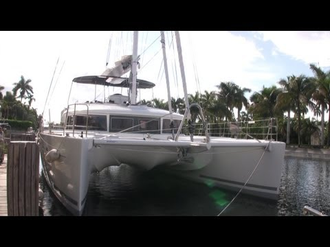 Lagoon 560 catamaran Walk through and sea trial