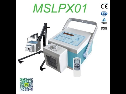 Video Digital portable x-ray machine MSLPX01 operational video