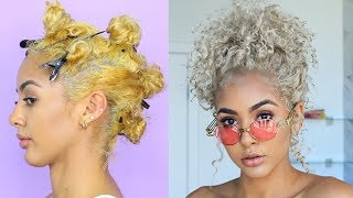How To Tone Hair   Brassy To Ash Blonde Wella Toner