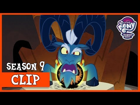 MLP Season 9 Premiere clip: King Sombra leaves Grogar's League of