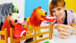 Веселая Школа с Машей Капуки Кануки - Видео для детей - Строим зоопарк